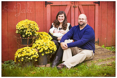 Family portraits for the Burran family, taken October 26, 2013 in Chickamauga, GA.
