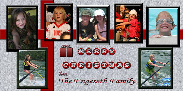 Sample Christmas Card ... please pick your own photos ... I was just guessing. RA