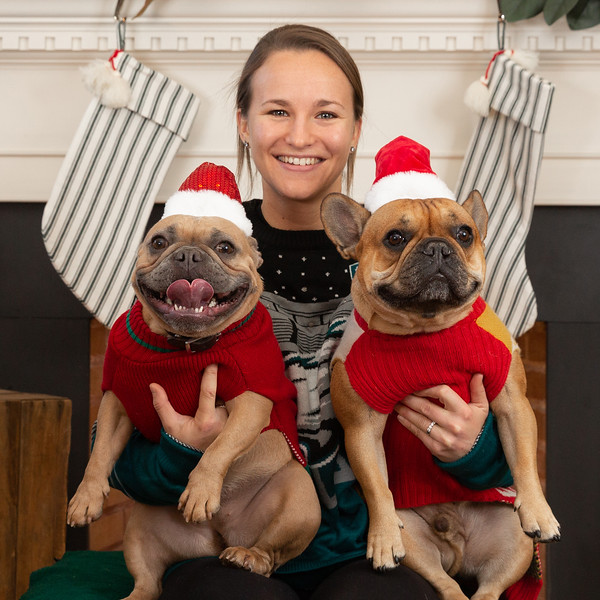 Sarah, Ralphie & Hamlet Christmas Portraits