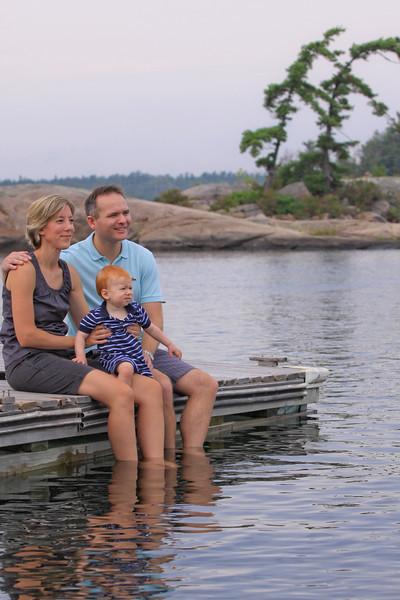 Family Portrait on location Honey Harbour