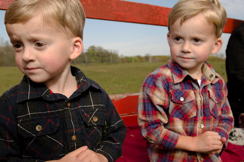 Kids enjoying hayride at Godsell Farms
