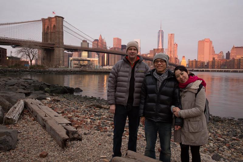 Sunrise in Brooklyn with Jean and Ryoko