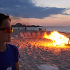 Beach bonfire at the Grace Bay club