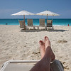 Relaxing on Grace Bay Beach