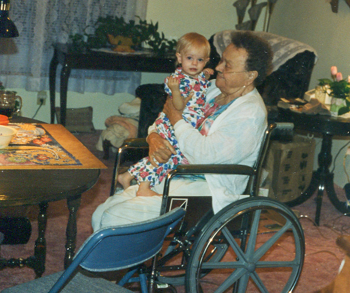 Two things grandma loved, babies and puzzles.