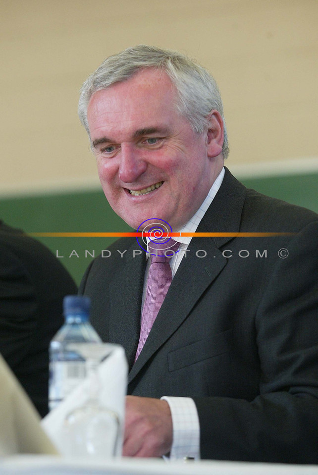 Bertie Ahern all smiles at the opening of the St Michaels college extension in Listowel.<br /> Pic Brendan Landy