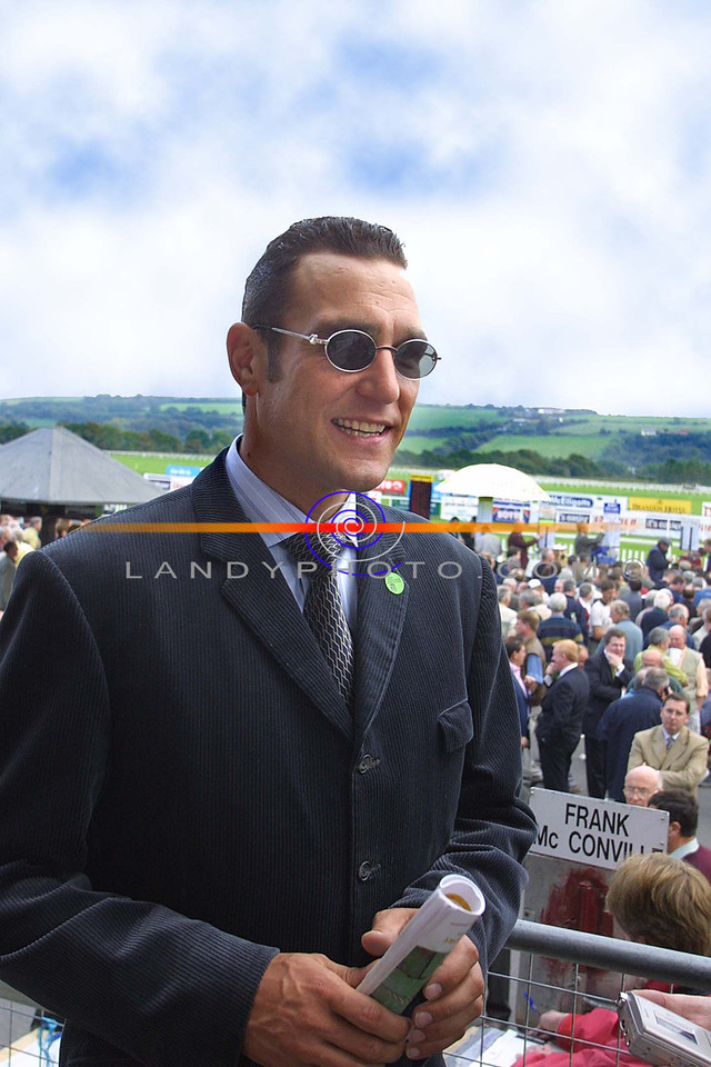 Vinny Jone smiles as he enjoys his quick visit to the opening day of the featival meeting in Listowel.<br /> Pic Brendan Landy