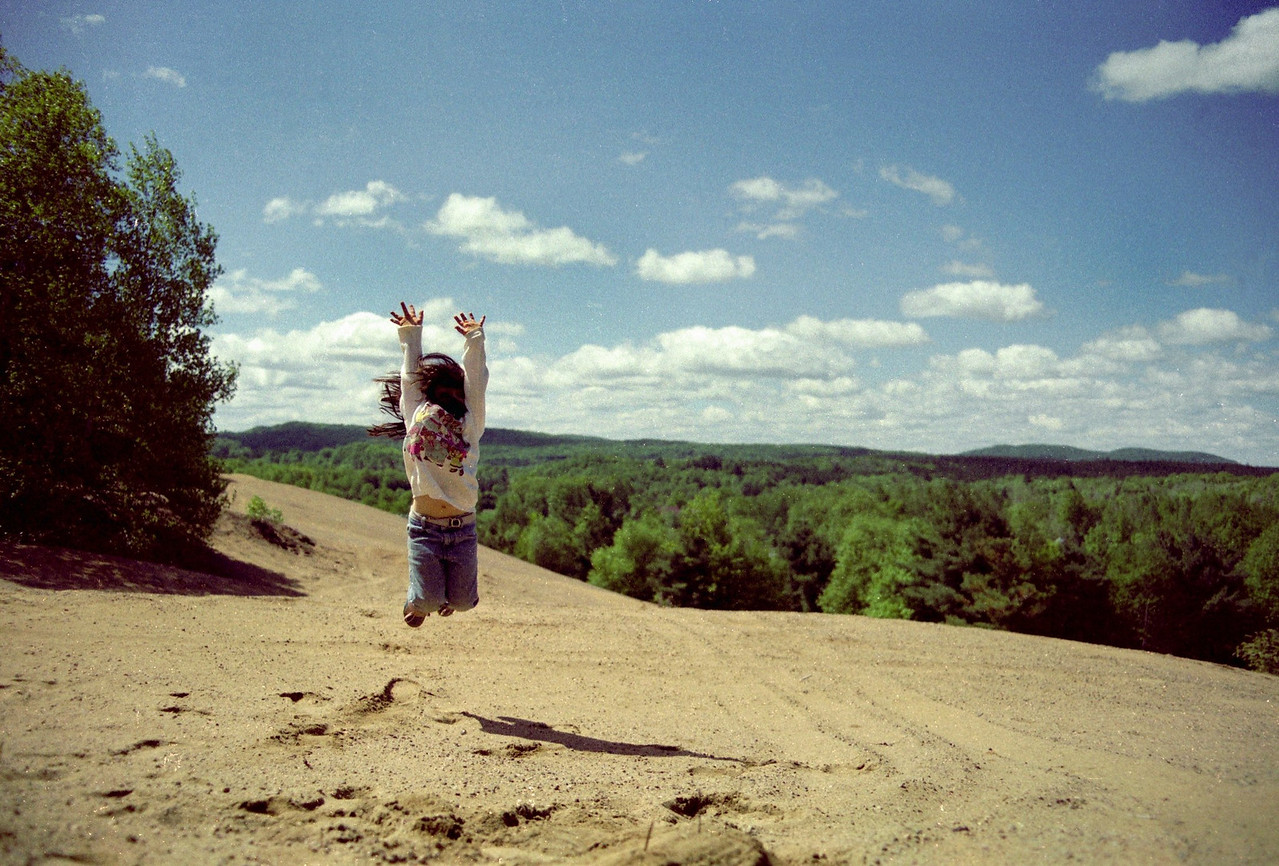 Fran on top of the Sand Hill - Memorial Day 1989