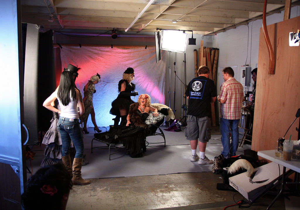 Behind the scenes and almost ready to shoot.