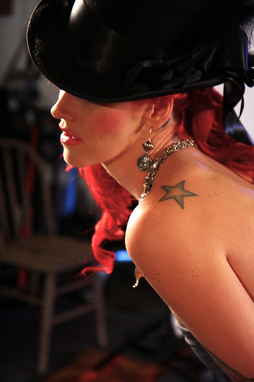 Katherine's shoulder star.