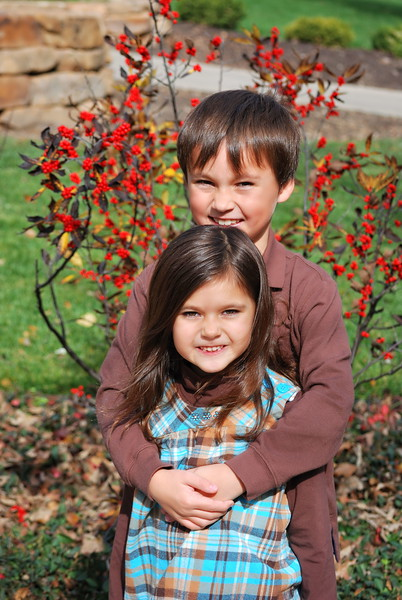 Robert and Estella ... October 2010 ....7 & 6 years old
