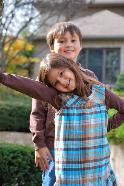 Estella and Robert ... October 2010 ...6 & 7 years old
