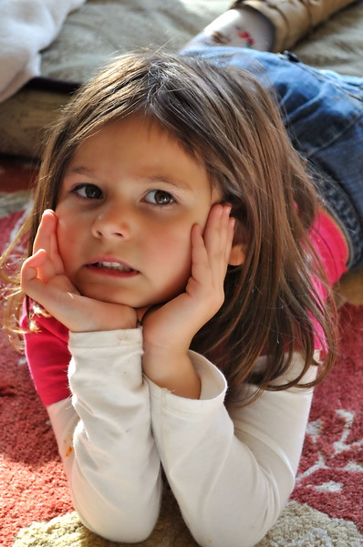 Estella giving me a young model pose. Taken in October 2009. 5 years old