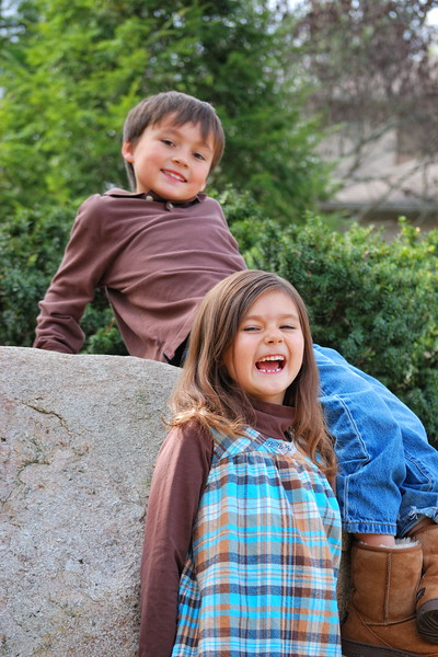 Too Funny !!  Estella and Robert ... October 2010 ....6 & 7 years old