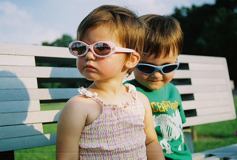 Cool Sibs.   Robert and Estella..... July of 2006....3 & 2 years old