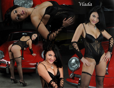 Vlada and the Red Porsche collage 11x85 2