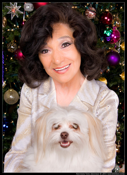 Gloria Allen and Bubbles. Season's Greetings 2011.