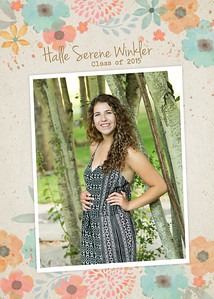 Halle grad card front