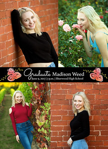 Madi Weed Grad Card Back