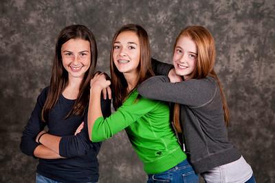 Three gymnasts