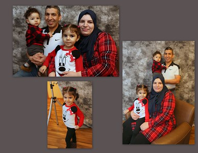 Morrad & Wafa with daughter Warda & son Isaac