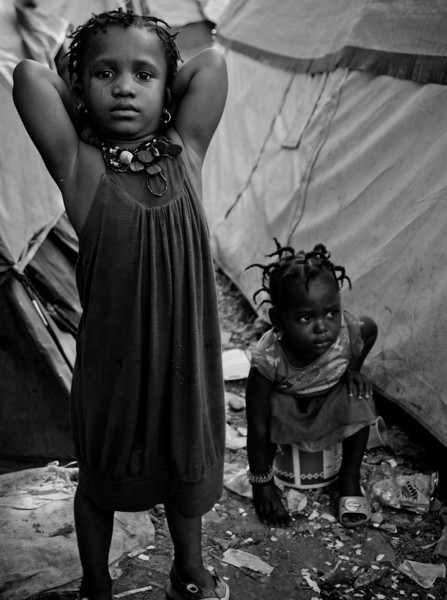 Life at the camps, Port-au-Prince, Haiti, June 2009.