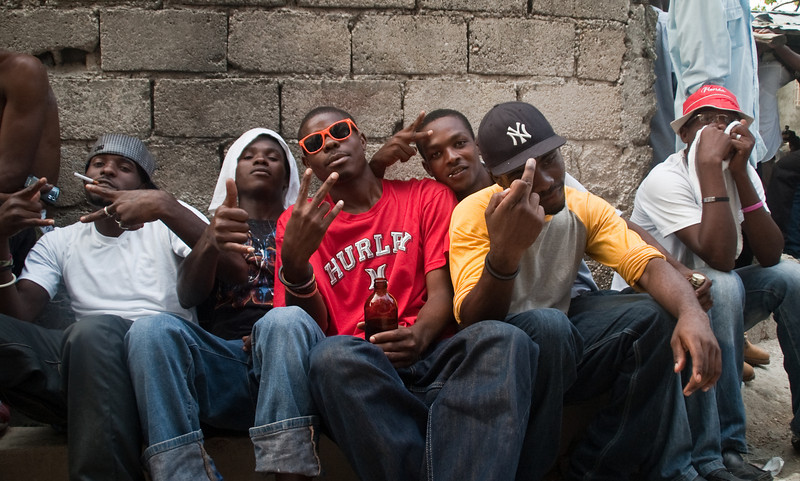 Street Gangs in the slums of Cité Soleil, Haiti, June 2011.