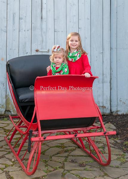 Harrison Girls holiday portraits