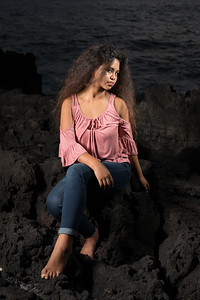 Lexi modeling a street casual off the shoulder top and jeans in the lava ©2017 Ranae Keane-Bamsey Photography www.EMotionGalleries.com