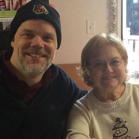 Mom & James at Ron's Family Christmas Dinner 12-25-15