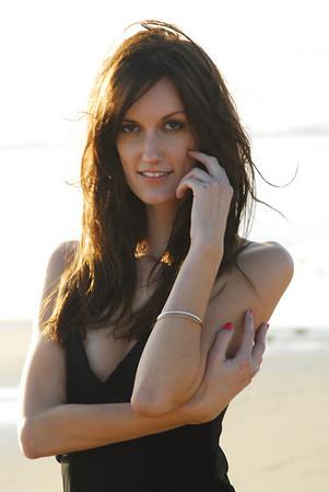 Kristen modeling formal eveningware on the beach in Ventura, Ca.  11/30/08