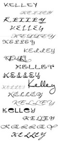 Sample fonts - let me know what you like (if any)