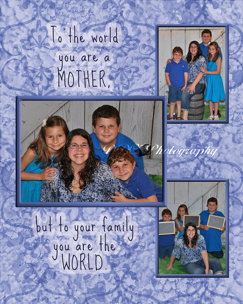 3-Photo Flower Background Collage - available as Mother's Day Special 8x10 Collage Print $10