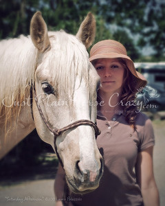 A Saturday Afternoon.  Portrait of Ouro & his person Stephanie Oliviera. Photo by Laura Palazzolo.