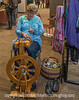 Craftswoman Spinning Yarn