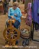 Craftswoman Spinning Yarn