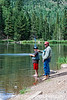 Fishing at Blue Lake in Colorado