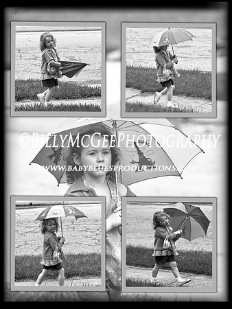 The Umbrella B&W