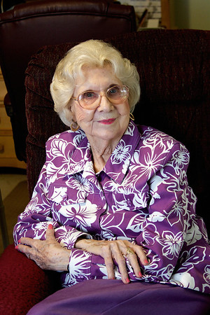 Grandma in her recliner in Austin