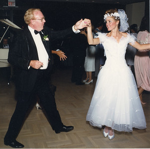 Jack, father of the bride dancing with his daughter Dana at her wedding 5/2/1987