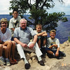Jack with his daughter Dana, Grandsons Perry & Kendall, Step Grandson Cameron and Cameron's friend, Grand Canyon 7/02/2001