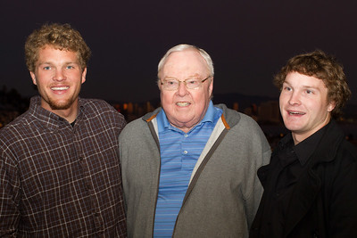 Jack with Grandsons Perry & Kendall Strahl in Point Loma, 12/24/2011