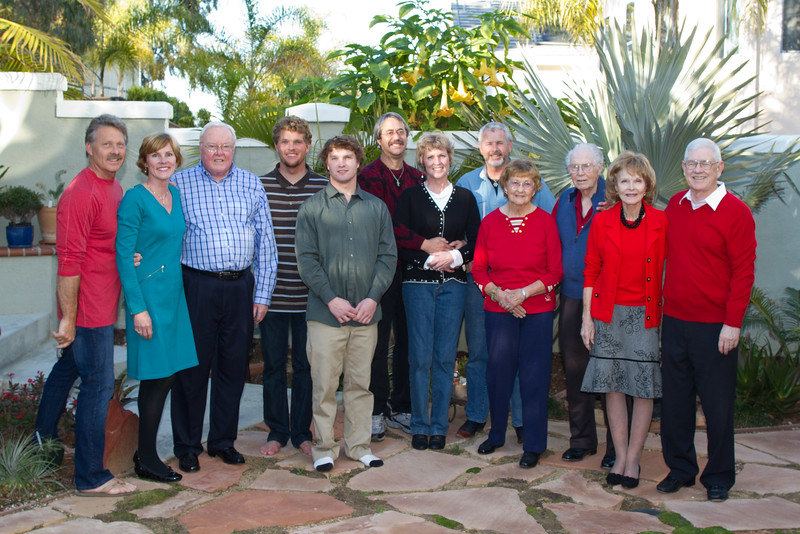 Jack visiting daughter Dana and family in Carlsbad for Christmas 12/25/2011
