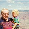 Jack holding his Grandson Perry Strahl at the Grand Canyon summer 1992