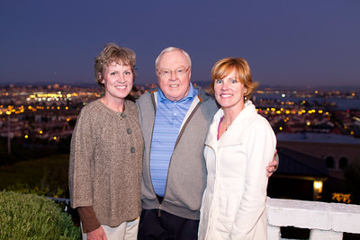 Jack with daughters Brenda and Dana in Point Loma, CA 12/24/2011