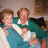 Jack, Karyn and grandson Perry Strahl's first Christmas December 1990