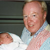 Jack the proud grandfather holding 1 day old grandson Perry Strahl 9/15/1990