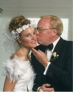 Jack with his youngest daughter Dana at her wedding, 5/02/1987