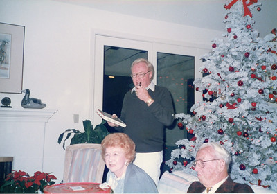 Jack and parents Doctor Cherry & Philomena 1984 or 1985 Christmas