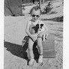 Little Jackie Cherry and a Jack Russel Terrior, mid 1930s Tonapah